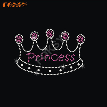 Diamond Crown Hot Fix Rhinestone Transferencia