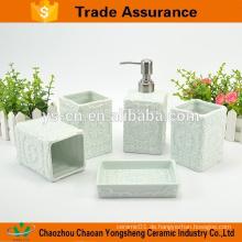 Hot-Sales Keramik-Bad Zubehör-Set mit klassischen Relief