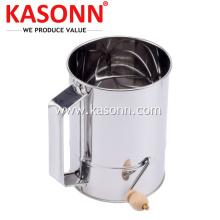 5 Cup Rotary Crank Sugar Baking Flour Sifter
