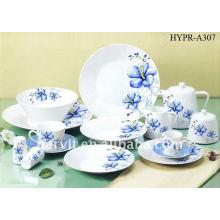 Ensemble de dîner en porcelaine ronde, assiette / tasse à thé et soucoupe / pot à thé Elegant Beautiful Decal Ceramic Dinnerware Sets