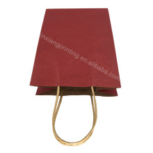 Promotional top quality kraft paper bag with handle 15*21*8cm