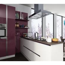 Armário de cozinha MDF de superfície de melamina