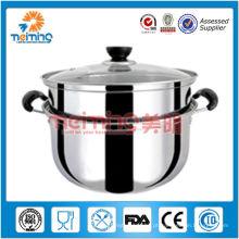 28cm aço inoxidável multifuncional steamer / panela de sopa