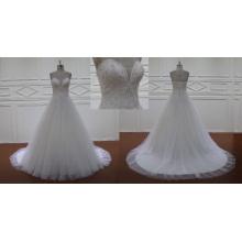Sweetheart perles paillettes robe de mariée grande taille robes 2016