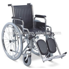 Leather seat manual wheelchair for disable W001
