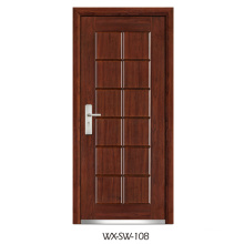 Expert Supplier Steel Wooden Door (WX-SW-108)