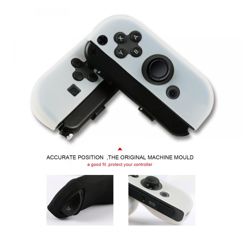 Switch Joy-con Silicone Grip Black and White