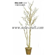 China supplier OEM for Wedding Tree Centerpiece, Crystal Wedding Tree Decoration, Artificial Dry Tree Branch,Artificial Tree Without Leaves,Wedding Table Centerpieces from China Manufactory Sell Silver Gold 140CM Crystal Tree For Party Decoration supply t