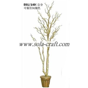 Sell Silver Gold 140CM Crystal Tree For Party Decoration