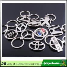Fábrica direta venda barato carro Metal logotipo chaveiro