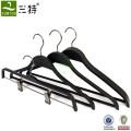 black plastic coat jacket hanger for fashion shops