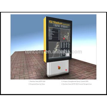 Free stand advertising light box