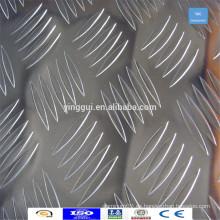 Suministre el tamaño personalizado 6063 hoja de aluminio a cuadros placa