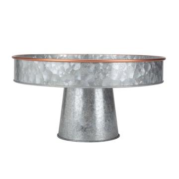 Plateau rustique décoratif en métal galvanisé