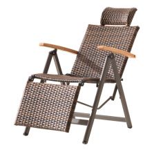 Hot selling folding metal design relax chair with armrest for outdoor