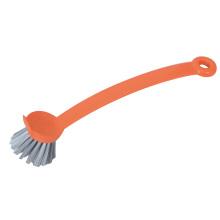 Cepillo largo plástico del pote del cepillo de limpieza del plato de la cocina de la manija de la manija del hogar de los 24.5 * 5.5 * 2.5CM