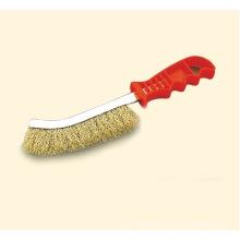 Wire Scratch Brush Brass Red Handle