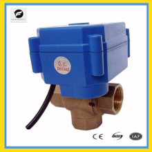 3 way motor ball valve T flow for auto equipment solar water system water heater