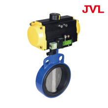forged Pneumatic Soft seal worm gear butterfly valve