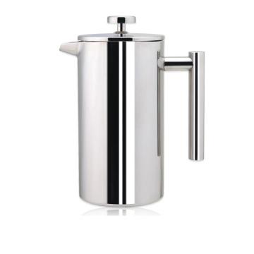 1000ml Edelstahl Doppelwand Französisch Presse Kaffee Wasserkocher