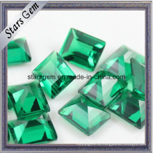 Wuzhou sintético verde esmeralda Nano Piedra suelta