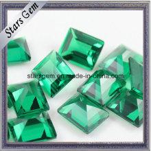 Wuzhou synthétique vert émeraude nano lâche pierre