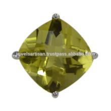 Neuer Entwurfs-Zitrone-Quarz-Edelstein 925 Sterlingsilber-Ring