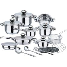 Durable 21pcs stainless steel cookware set