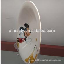 diseño encantador blanco procelain omega placa
