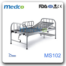 MS102 Stainless steel hospital bed with leg