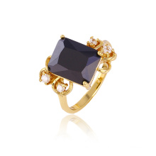 Xuping Luxury 14k Gold Plated CZ Stone Copper Ring