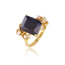 Xuping Luxury 14k Позолоченные CZ Камень Медное кольцо