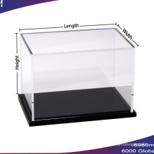 Wholesales Costoms Acrylic Display Box with Black Base