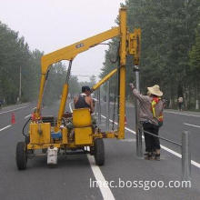 Pile Driving of Highway Fence, Specially for Embedding Steel Pipe Poles for New Highway