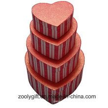 Hearted Shape Special Textured Paper Gift Packaging Boxes