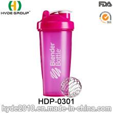 Botella plástica libre de la coctelera de la proteína de los PP de 600ml al por mayor (HDP-0301)
