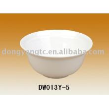 Logo personalizado al por mayor de 5 pulgadas tazón de almacenamiento de cerámica, tazón de arroz, plato de sopa, tazón de cerámica, tazón de fuente de postre, tazón de aperitivo