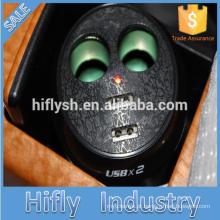 HF-LY0186 IPAD recarregável isqueiro do carro um dois um pontos dois duplo USB copo atualização IC (certificado do CE)