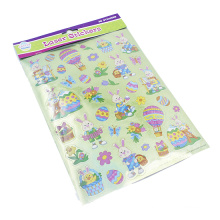 Custom Cartoon Decorative Vinyl Glitter Sticker For Kids