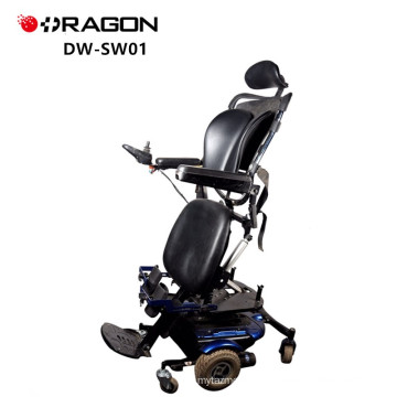 China Supplier 350W Invacare VR2 Controller Adjustable Aluminum Electric Power Standing Wheelchair