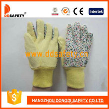 Garden Gloves. Flower Cotton Back (DGS403)