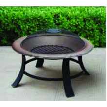 30 '' Holz Burning Fire Pit, Runde Stahl Feuer Pit / Metal Grill