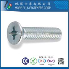 Fabricados em taiwan DIN965 m5x16 aço inoxidável 304 phillips flat head machine screws