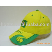 yellow embroidered golf baseball hat