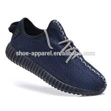 novo tecido de tricô yee esportes sapato sapatilha tênis
