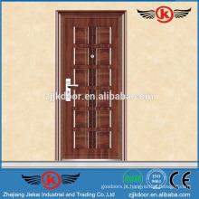 JK-S9027 porta de aço moderna porta de entrada de metal metálico