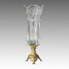 Хрустальная статуя вазы Jardiniere Бронзовая скульптура Tpgp-016