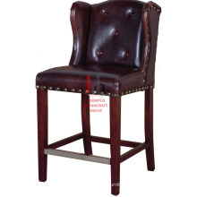 Leather High Bar chair