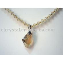 À la mode nouveau design clair grand colliers en cristal de perles de cristal