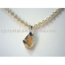 fashionable new design clear large glass crystal bead necklaces